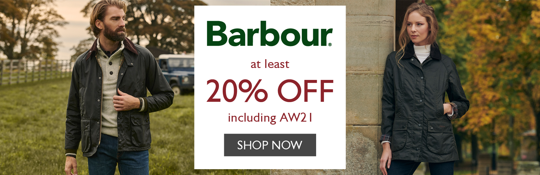 Barbour at least 20% OFF   Shop Now