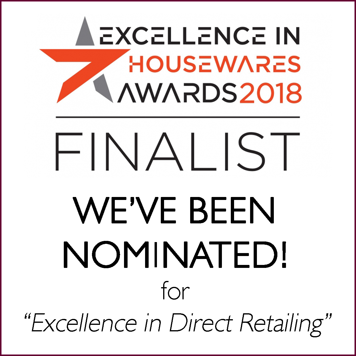 Excellence in Housewares Awards Finalist
