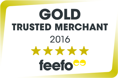 Feefo Gold Trusted Merchant 2016 Award!