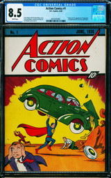 Action Comics #1 CGC 8.5 Sets New Record at $3.25M; ComicConnect Brokers Deal