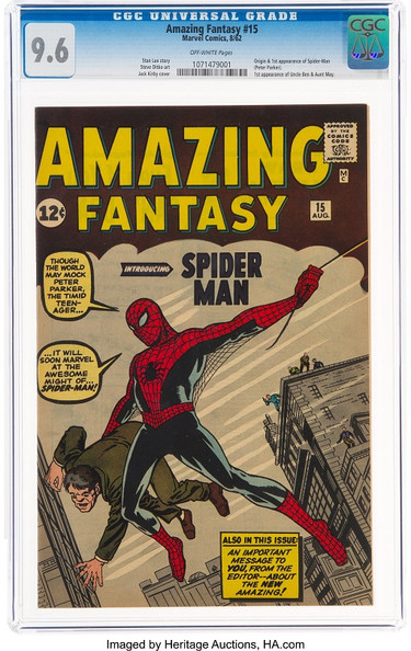 Amazing Fantasy #15 CGC 9.6 Sells for $3.6 Million at Heritage; Sets World Record