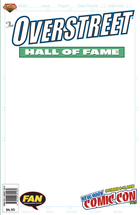 A special limited edition, white cover version of the recently released Overstreet Hall of Fame one-shot celebrating contributions to the comic book field...