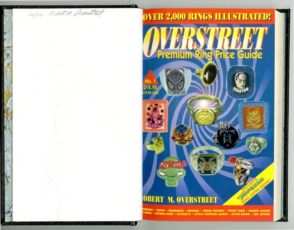 The Overstreet Toy Ring Price Guide #1 Signed Leather Bound HC