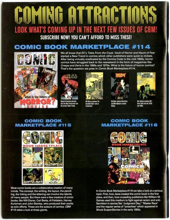 Comic Book Marketplace Volume 3 #113