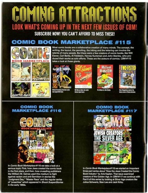 Comic Book Marketplace Volume 3 #114
