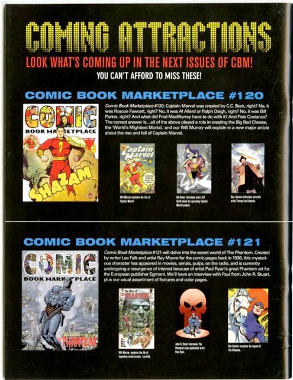 Comic Book Marketplace Volume 3 #119