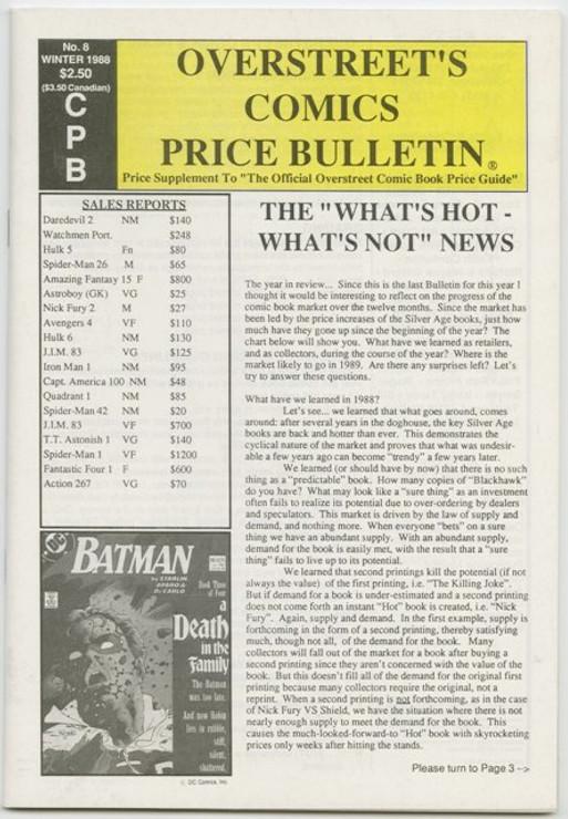Overstreet's Comics Price Bulletin #8