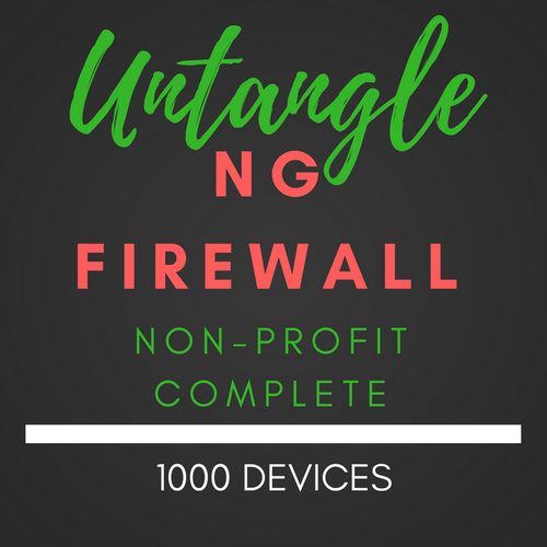 Untangle NG Firewall NON-PROFIT Complete 1000 users