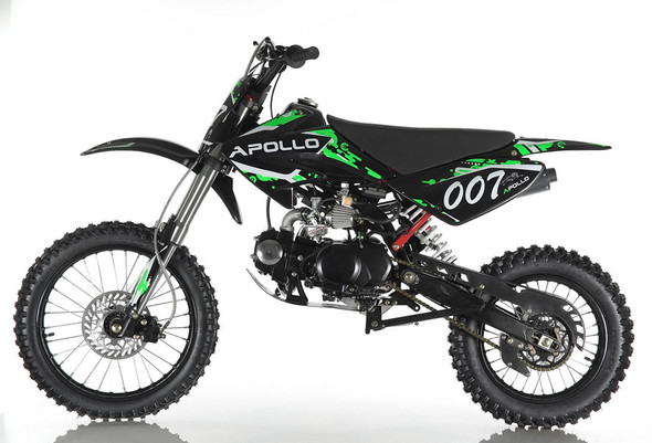 "Apollo DB-007 Dirt Bike 125cc Engine - Manual Transmission ( 17""/14"") Wheels  heavy duty shocks"