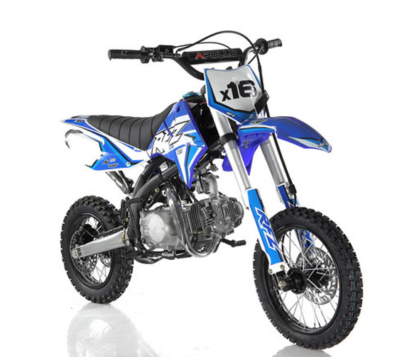"Apollo RFZ 125 DB-X16 Dirt Bike  - Automatic Transmission ( 14""/12"") tires - Medium Frame"