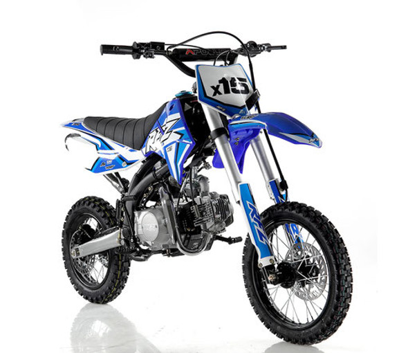 "Apollo RFZ 125 DB-X15 Dirt Bike - Manual Transmission ( 14""/12"") tires  - Medium Frame"