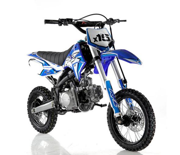 "Apollo RFZ 125 DB-X15 Dirt Bike - Manual Transmission ( 14""/12"") tires  - Medium Frame"