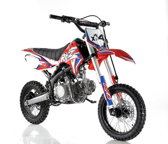 "Apollo RFZ 125 DB-X14 Dirt Bike - Semi Auto Transmission - (14""/12"") tires - Medium Frame"