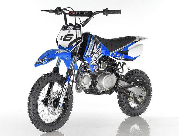 "Apollo RFZ 120 DB-X6 Dirt Bike - Fully Auto Transmission (14""/12"") Tires - Small Frame"