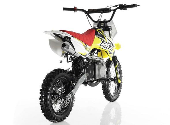 "Apollo DB-X4 Dirt Bike 110cc Engine - Semi Auto Transmission - (14""/12"") Tires - Medium Frame"