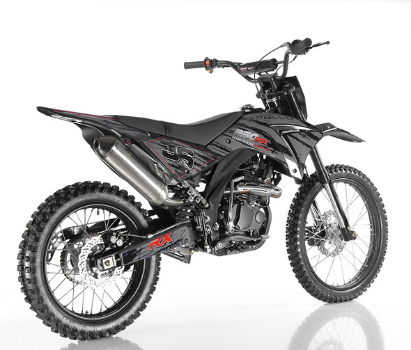 Apollo DB-36 OFF ROAD Dirt Bike 250cc Engine - 5 Speed Manual Transmission with clutch - XL Frame Adult Dirt Bike