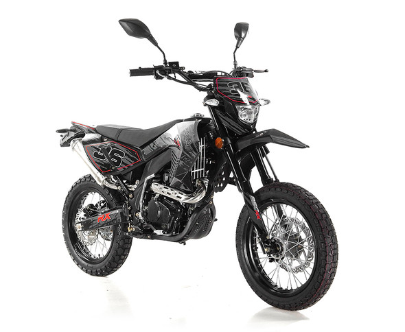 Apollo DB-36 Deluxe 250cc ( DOT ) - 5 Speed Manual Transmission with clutch - XL Frame Adult Dirt Bike