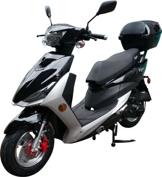 "Viper 49cc Moped Scooter with 10"" Wheels-Electric-Kick Start-Rear Trunk"