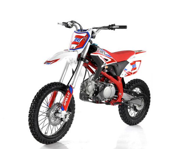 Apollo RFZ 125 Z20 Dirt Bike - Manual transmission (14'/17') - Large Frame