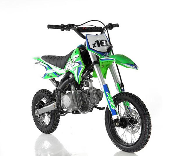 "Apollo RFZ 125 DB-X16 Dirt Bike  - Automatic Transmission ( 14""/12"") tires - Medium Frame"