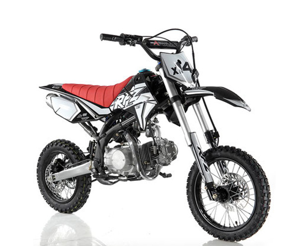 "Apollo RFZ 125 DB-X14 Dirt Bike - Semi Auto Transmission - (14""/12"") tires - Medium Frame"