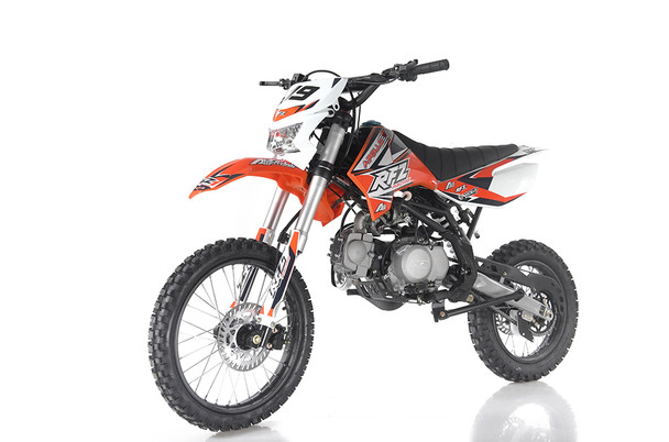 Apollo 125cc Dirt Bike DB-X19 Manual transmission with Clutch - Large Frame with headlights