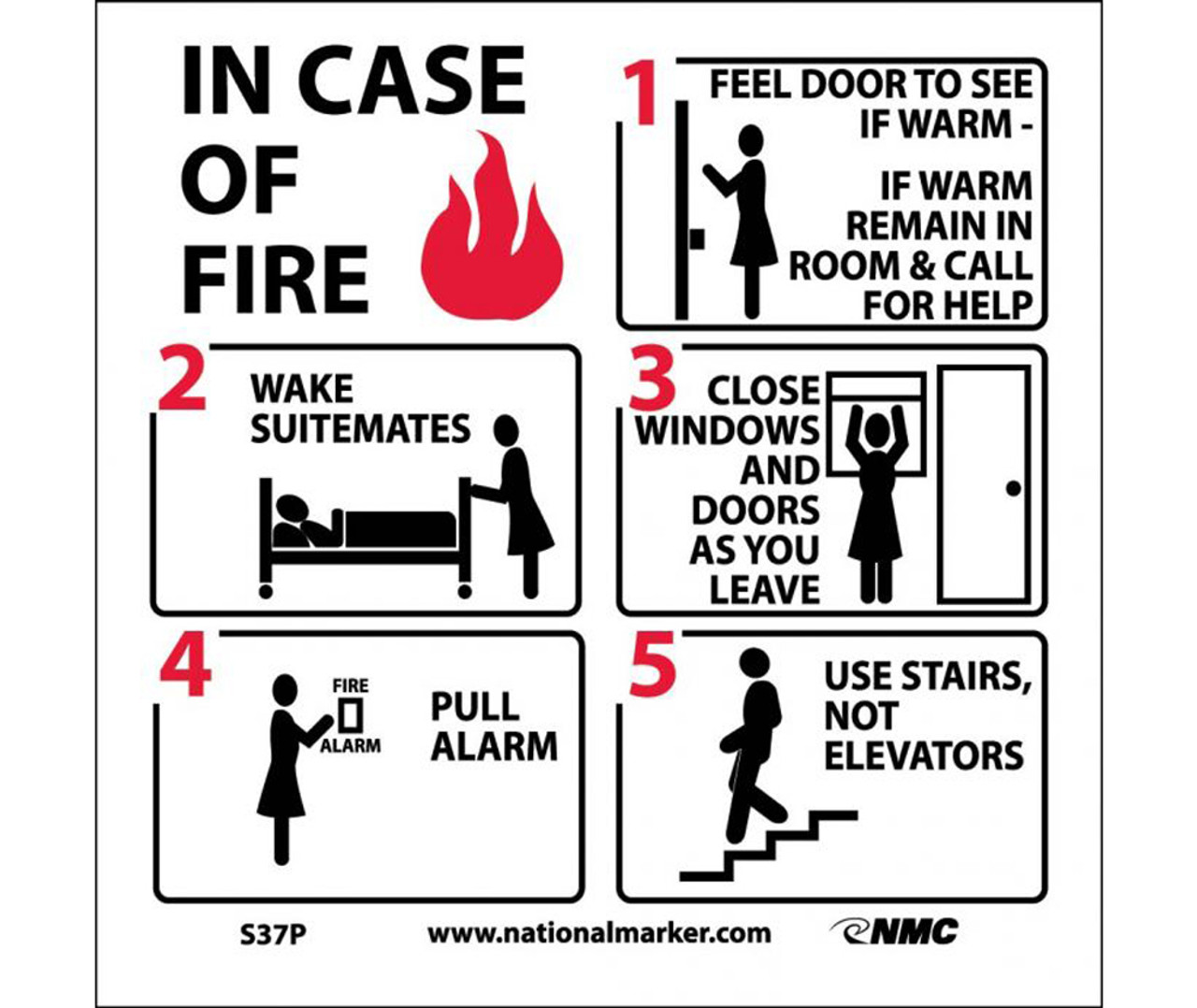 Image result for in case of fire""