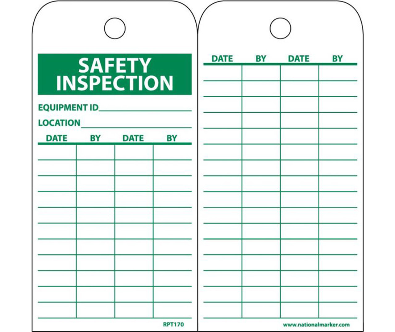 Safety Inspection Date Record Tag