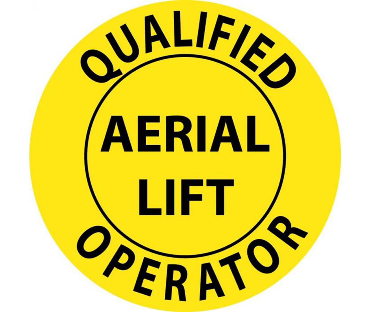 Qualified Aerial Lift Operator 2 Inch Hard Hat Label