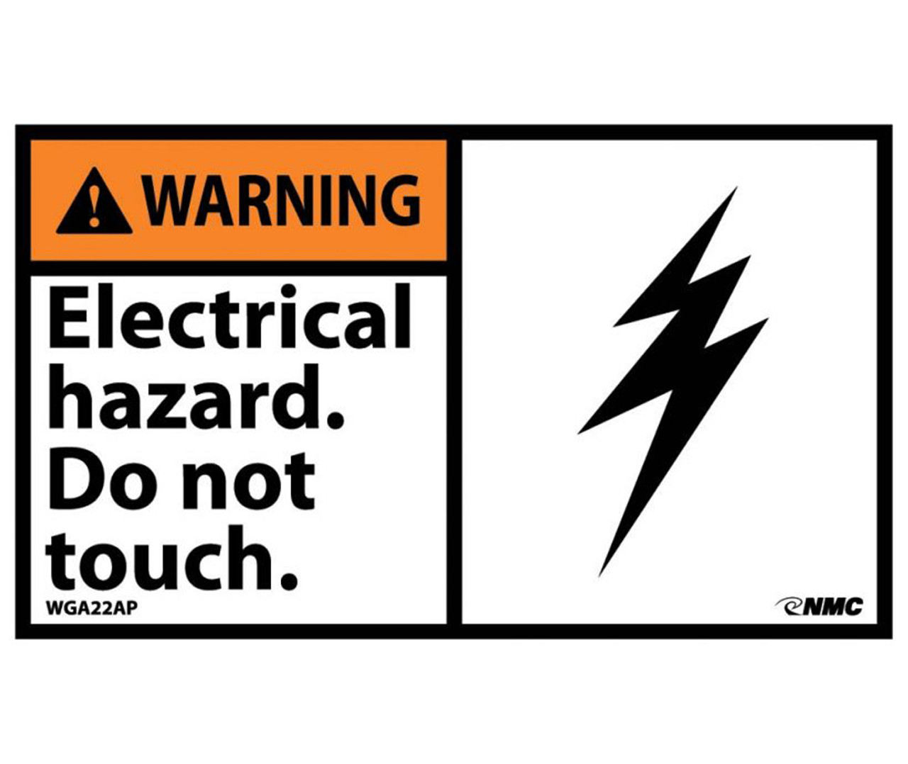 Warning Electrical Hazard Do Not Touch Graphic Label