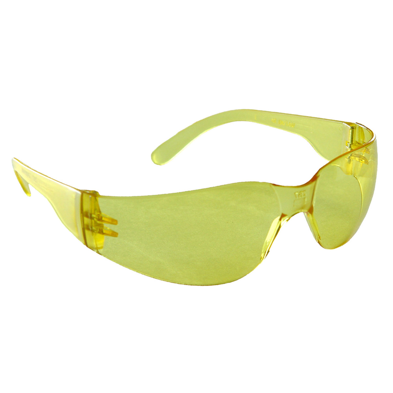 78ea049d2bfb Radians yellow frameless wrap around safety glasses with yellow lenses and  temples
