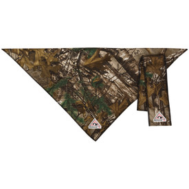 Bulwark FR CAT 2 Camo Bandana and Head Tie - Camouflage colored Bulwark bandana with a Bulwark logo on the bottom.