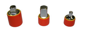 Cementex Insulated Assorted Voltage Rated Socket Adapters -3 Red Insulated round socket adapters.