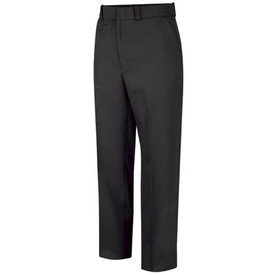 Horace Small Men's Sentry Uniform Pants - Front View of Black Trousers with 2 Quarter-Top Front Pockets, 3 belt loops and a crease on each leg.