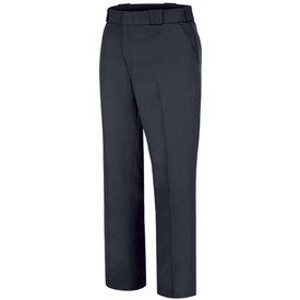 Horace Small Women's Wool Uniform Trousers - Front view of Horace Small Dark Navy office uniform trousers with wide waist band large belt loops and front slash hip pocket.