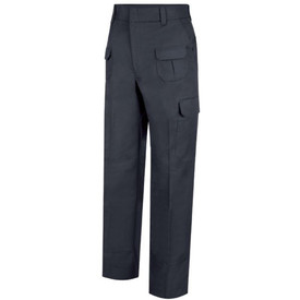 Horace Small Men's EMT 9 Pocket Cargo Pants - Front  View of Dark Navy EMT Cargo Pants with wide waist, wide belt loops, 2 Quarter-Top Front Pockets, 2 Two Upper Glove Pockets with Inverted Pleats, Cargo pockets with flaps on each leg and a crease on each leg.