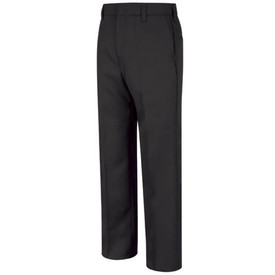 Horace Small Men's Security  Pants - Front View of Navy Pants with lined waist, large belt loops, 2 Set-In back Hip Pockets and a crease on each leg.