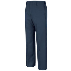 Horace Small Women's Security Pants - Front View of Navy Pants with lined waist, large belt loops, 2 Set-In back Hip Pockets and a crease on each leg.