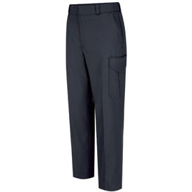 Horace Small Women's Stretch 6 Pocket Officer Pants - Dark Navy Front View of Cargo trousers with belt loops, 2 Quarter-Top Front Pockets , cargo pockets on each leg and permanent crease on each leg.