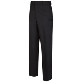 Horace Small Women's Hidden Cargo Pocket Sentry Trouser - dark navy long work pants with 2 hidden cargo pockets on the side of the legs, 2 Quarter top front pockets, concealed zipper front and belt loops. Front view.