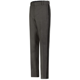Horace Small Ohio Sheriff Grey Black Stripe Trouser - grey heather with black stripe men's long work pants with 2 Quarter top front pockets wide waist and belt loops. Front view.