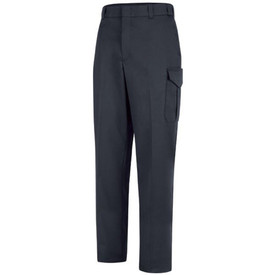 Horace Small Men's Navy 6 Pocket Utility Pants - Dark navy pants with 2 Welt topstitched hip pockets, a cargo pocket on the side of each leg, creases on the front of each leg, belt loops and concealed zipper. Front view.