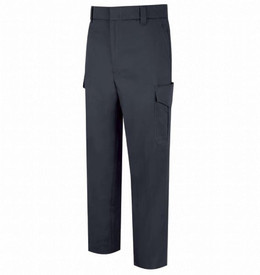 Horace Small Men's 6 Pocket Cotton Cargo Uniform Trouser -  Dark Navy Front View  of Cargo Trousers with wide waist, belt loops, 2 Quarter Top Front Pockets, a cargo pocket on the side of each leg and creases on the back of both legs.