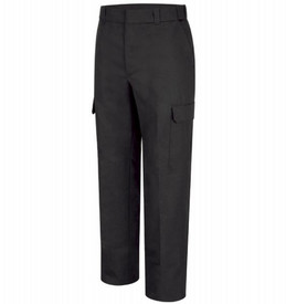 Horace Small Women's EMT 6 Pocket Navy Trouser - Dark Navy Back View of EMT Trousers with wide belt loops, wide waist, 2 Back Hip pockets with Button Through Closure on Left Hip Pocket and a cargo pocket on the side of each leg.