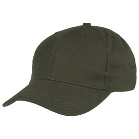Horace Small Land Management Ball Cap - earth green twill mesh ball cap with sewn eyelets in each panel and curved brim. Front view.
