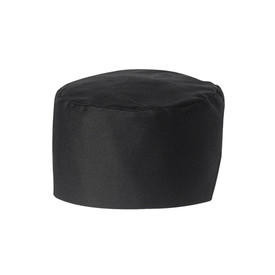 Chef Designs Unisex Elastic Back Skull Cap - black work caps.