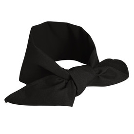 Chef Designs Plain Weave Neckerchief - black Neckerchief knot.