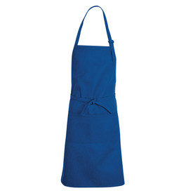 Chef Designs Adjustable Strap Split Pocket Premium Bib Apron - royal blue green apron with straps.