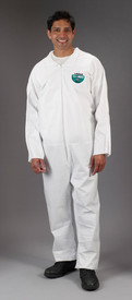 Lakeland MicroMax NS General Purpose Coverall -  General Purpose white Disposable Coverall with Zippered Front