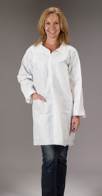 Lakeland MicroMax NS Lab Coat with 2 Pockets  -  White Disposable Lab Coat with 2 Pockets